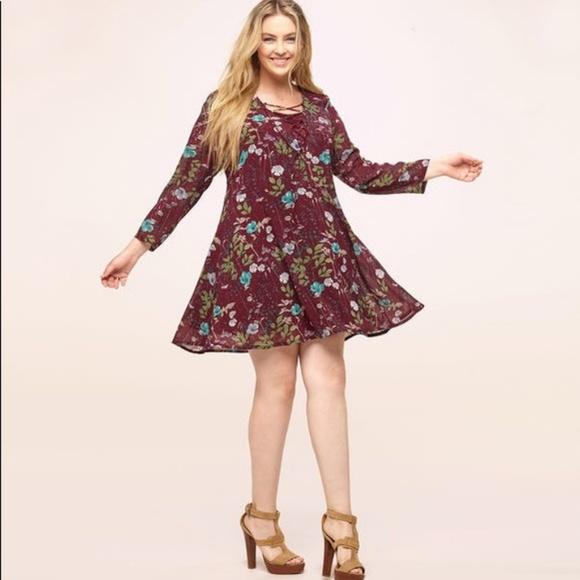 8eb6cc6b26e2 loralette Dresses | 3x Junior Plus Floral Dress Nwt | Poshmark